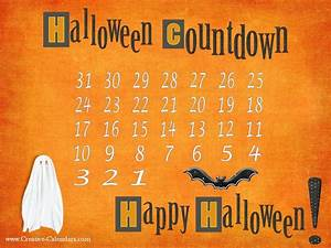 Printable Calendar Download Halloween Countdown