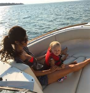 Bikini Boat Pictures by Hilaria Baldwin Defends Having Help After Husband Alec