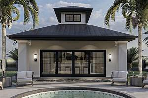 Plan, 62310dj, Contemporary, Pool, House, With, Covered, Patio