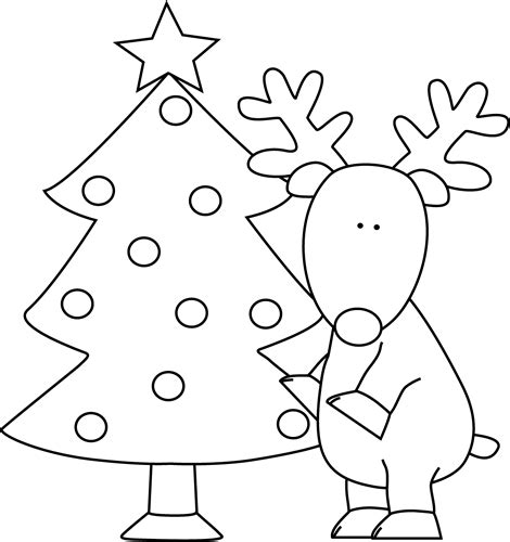 santa claus  christmas tree coloring pages coloring
