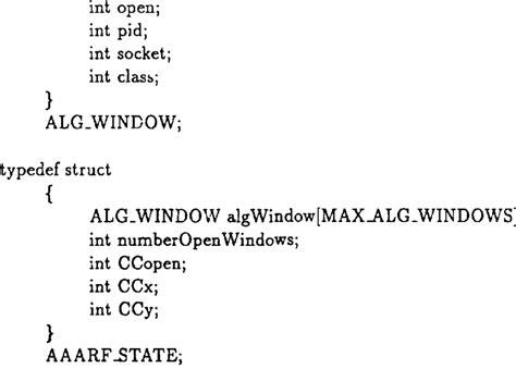 function prototypes  aaarf indows typedef struct