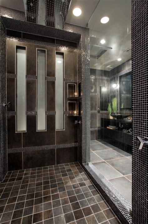 contemporary black  gray master bathroom contemporary