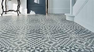 Revêtement De Sol Lino : dalle pvc clipsable salle de bain les ~ Premium-room.com Idées de Décoration