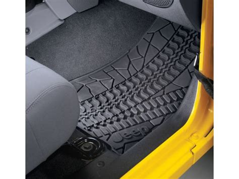 jeep jk floor mats mopar mopar 82210164ac mopar 174 floor slush mats with tire tread