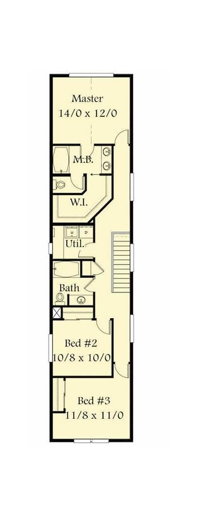 Narrow Lot Plans Plan Orleans Garage Architecturaldesigns