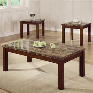 cherry living room table sets With rooms to go marble coffee table