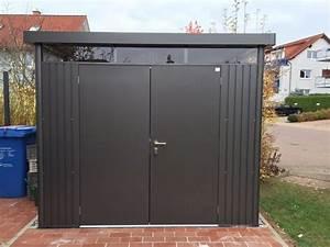 Gartenhaus Metall Flachdach : metallger tehaus gartenh tte ger teschuppen ~ Watch28wear.com Haus und Dekorationen