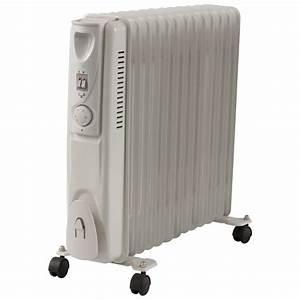 Chauffage Bain D Huile Avis : radiateur bain d 39 huile inertie avec roulettes blanc 2500w radiateur bain d 39 huile chauffage ~ Nature-et-papiers.com Idées de Décoration