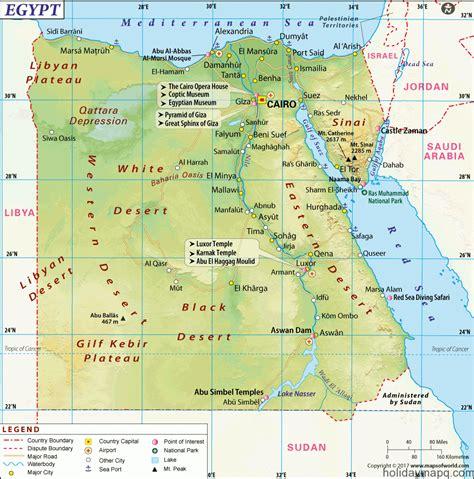 map  egypt holidaymapqcom