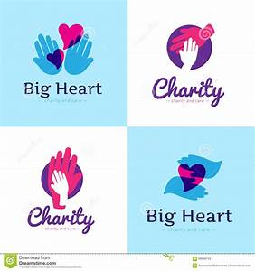 Vector Set Of Clean Charity Center Logos. Hospital Logos ...