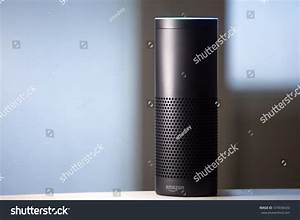 Amazon Echo Voice Activated Recognition System Stock Photo ...