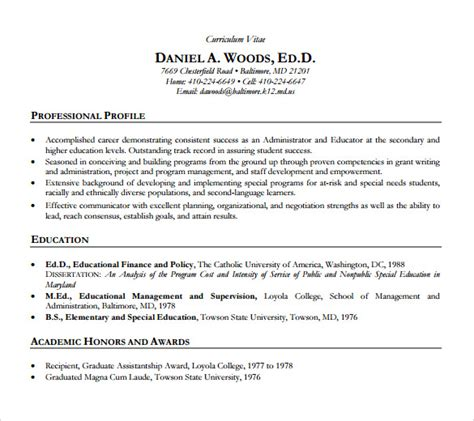 academic resume templates   sample templates