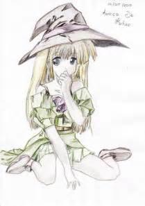 Halloween Anime Witch Girl Drawings