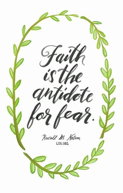 Faith Lds Quotes Bible Clipart Fear Nelson