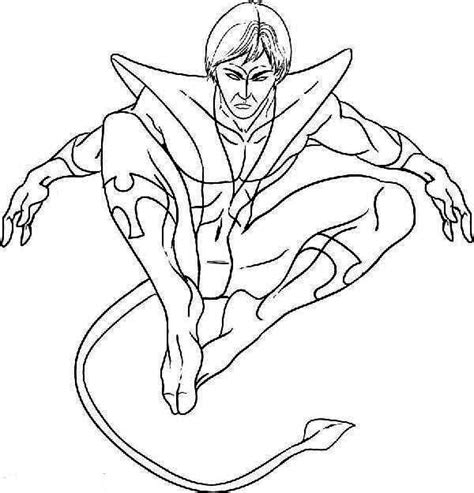 Nightcrawler Coloring Pages Marvel Nightcrawler Page Coloring Pages