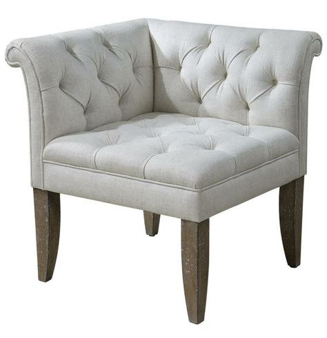 Corner Chair With Ottoman by Classic Tufted Chesterfield Corner Chair Sofa Ivory White
