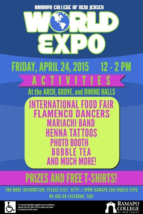join   world expo  wednesday april  ramapo