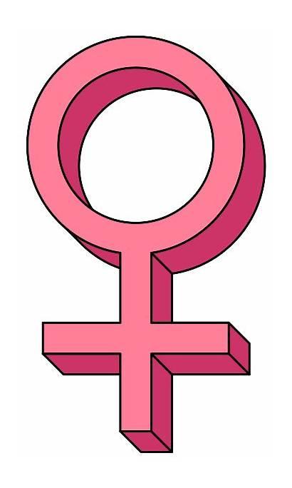 Female Symbol Pink Clipart 3d Venus Pseudo