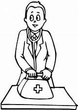 Coloring Doctor Medical Bag Tools Medicine Drawing Bring Colouring Doctors Printable Sheets Getcolorings Clipartmag Getdrawings sketch template