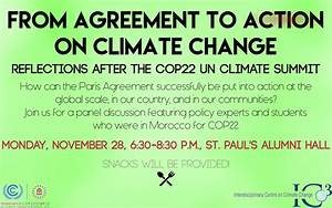 From Agreement to Action on Climate Change: Reflections ...