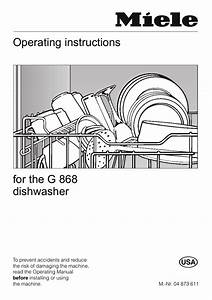 Miele Dishwasher Manual G868l