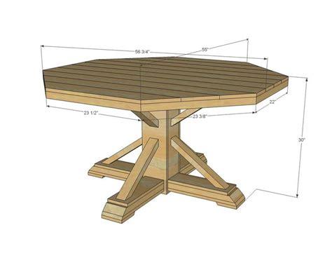 ana white build  benchmark octagon table