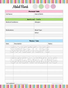 medical records organizer home binder organizing With household documents organizer