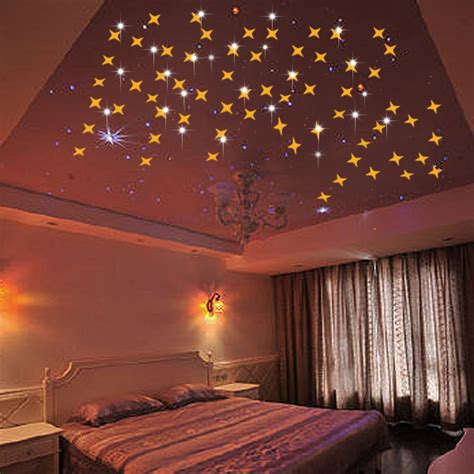 acrylic star wall sticker mirror surface roof stickers