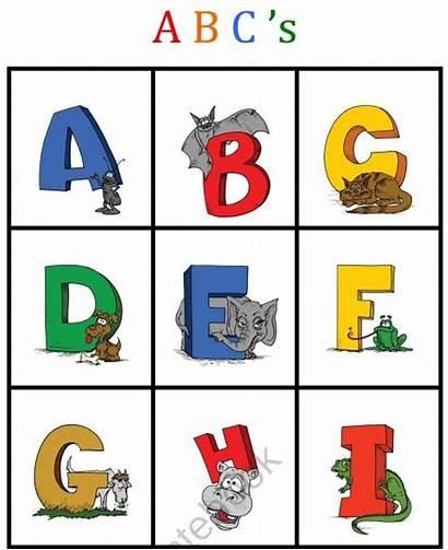 Bingo Card Printable Templates Abc Template Clipart