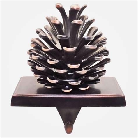 pinecone stocking holder trimmerry rustic pinecone holder shopko spirit