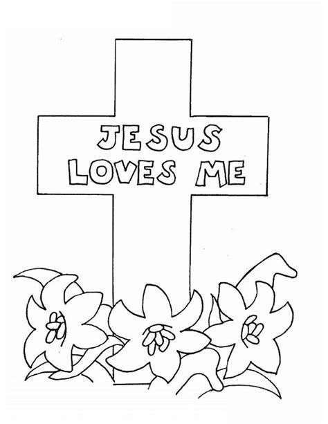 jesus color pages | Jesus Loves Me Coloring Pictures | Coloring | Jesus cross color page