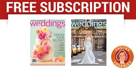 Free Subscription To Martha Stewart Weddings