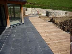 dalles en bois pour terrasse wikiliafr With comment poser des dalles de terrasse