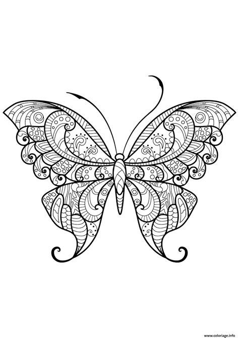 coloriage papillon adulte jolis motifs  dessin adulte papillon  imprimer