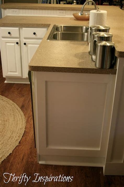 i kitchen cabinet add 1x4 moulding to oven cabinet side of fridge maybe 1760