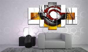 Wandbilder Für Wohnzimmer : modern living art leinwand 5 bilder wandbild m51507 die leinwandfabrik ~ Sanjose-hotels-ca.com Haus und Dekorationen