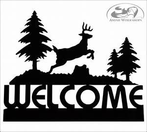 Deer Welcome Sign - Amish Workshops