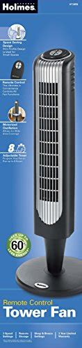 holmes tower fan reviews holmes oscillating tower fan 32 inch with remote control