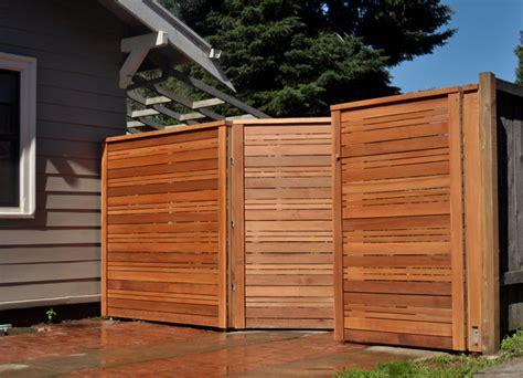 Modern Wood Fence Installation