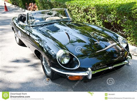 Jaguar E-type On Vintage Car Parade Editorial Photo