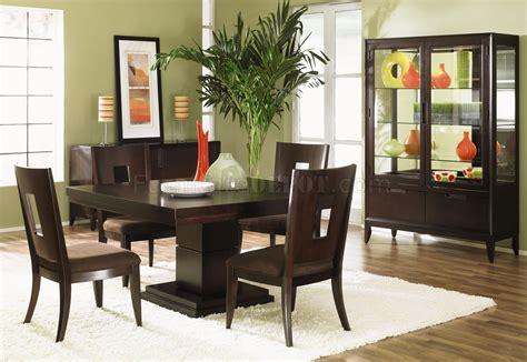 dark wood finish modern dining room woptional items