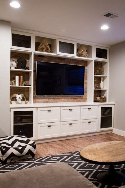 built  entertainment center cjs man cave pinterest