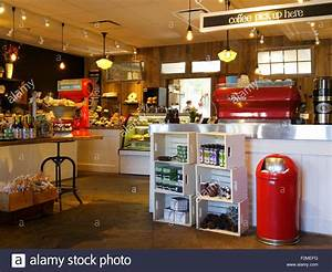 inside of an old fashioned coffee shop bakery with retro ...