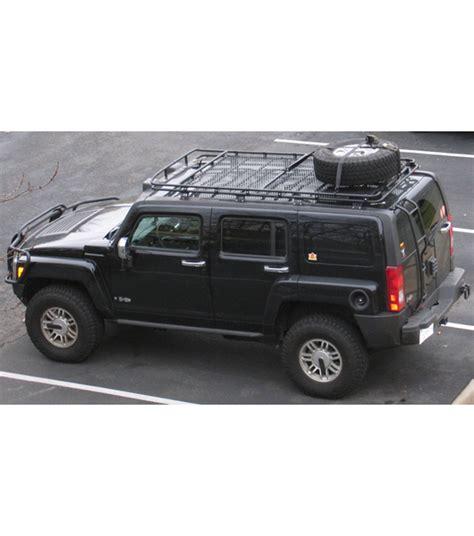 hummer h3 roof rack hummer h3 183 stealth rack 183 4 independent led lights 183 with