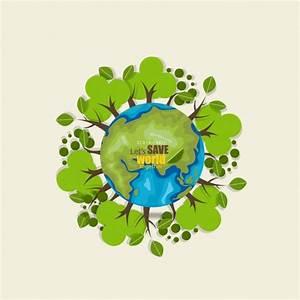 Salva el mundo fondo con arboles Descargar Vectores gratis
