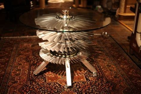 Stunning Coffeedining Table Made From Raf F4 Phantom Jet