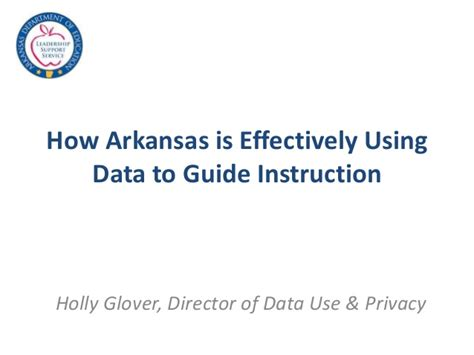 How Arkansas Is Effectively Using Data To Guide Instruction