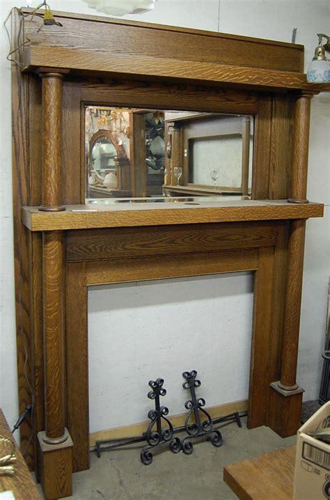 antique fireplace mantels early twentieth century antique oak fireplace mantel with