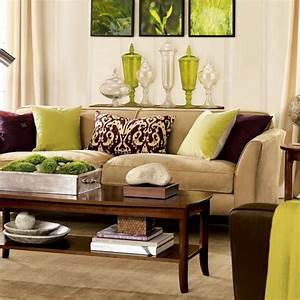 green and brown living room decor interior design With interior decor brown living room
