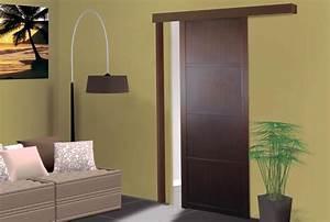 Rail Pour Porte Galandage : les portes coulissantes gagnez de la place diy ~ Premium-room.com Idées de Décoration